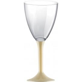 Flûte Plastique Vin Pied Crème 180ml (200 Unités)