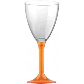 Flûte Plastique Vin Pied Orange Transp. 180ml (20 Unités)