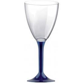 Flûte Plastique Vin Pied Bleu 180ml (20 Unités)