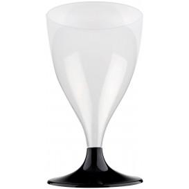 Flûte en Plastique Vin Pied Noir 200ml (20 Unités)