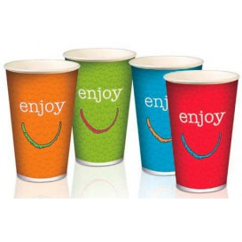 "Gobelet Carton 12oz/360ml ""Enjoy"" Ø8,0cm (100 Utés)"