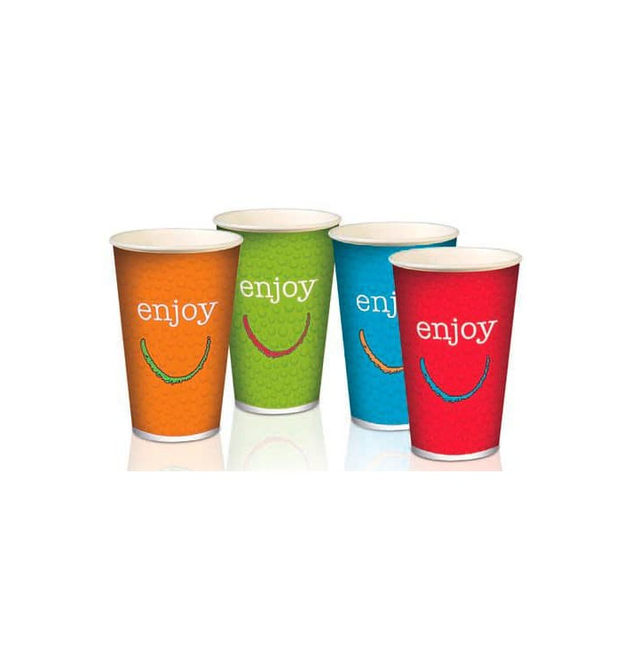 "Gobelet Carton 16oz/500ml ""Enjoy"" Ø9cm (1.000 Utés)"