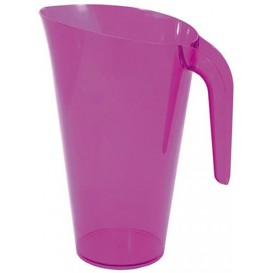 Carafe Plastique Aubergine Réutilisable 1.500 ml (20 Unités)