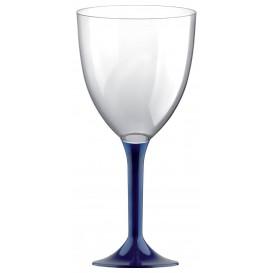 Flûte en Plastique Vin Pied Bleu 300ml (20 Unités)