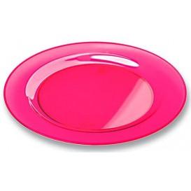 Assiette Plastique Extra Dur Framboise 26cm (6 Unités)
