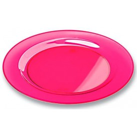 Assiette Plastique Extra Dur Framboise 26cm (90 Unités)
