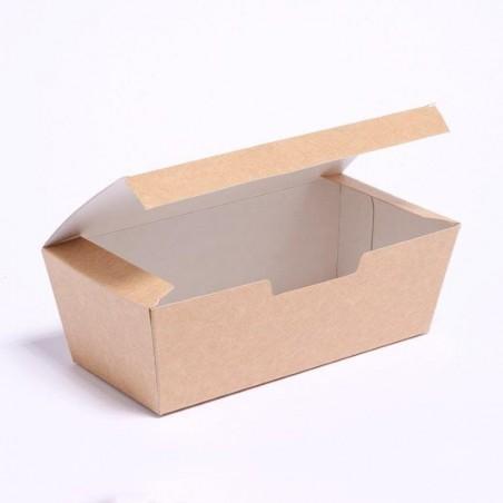 Caja Comida para Llevar Kraft 16,5x7,5x6cm (25 Unidades)