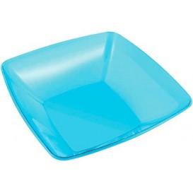 Bol Plastique carré Turquoise 28x28cm (20 Unités)