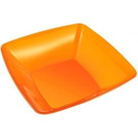 Assiette carrée en plastique dur Noir 23x23cm (200 Utés)