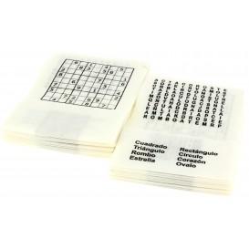 """Serviette en Papier SNACK """"Passe-temps"""" 17x17cm (6000 Unités)"""