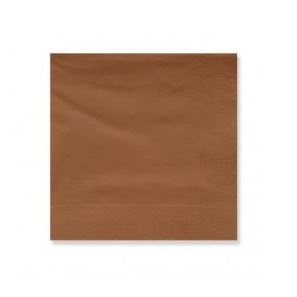 Serviette Papier à Cocktail 20x20cm Marron (6000 Utés)