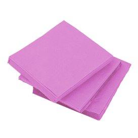 Serviette en Papier Micro Point 20x20cm Fuchsia (100 Utés)