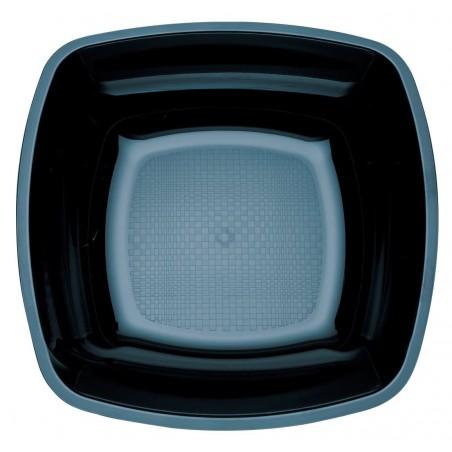 Assiette Plastique Creuse Noir Square PS 180mm (25 Utés)