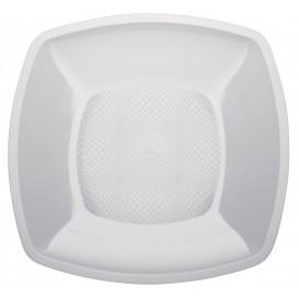 Assiette Plastique Lisse Blanc 230mm (25 Utés)