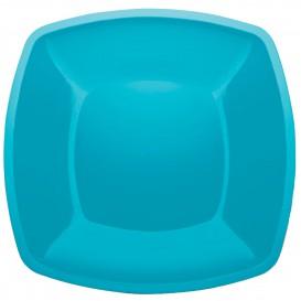 Assiette Plastique Plate Turquoise Square PS 300mm (144 Utés)
