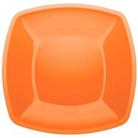 Assiette Plastique Plate Orange Square PS 300mm (144 Utés)