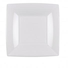 Assiette Plastique Plate Carrée Argent 180mm (150 Utés)
