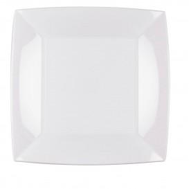 Assiette Plastique Plate Carrée Argent 230mm (150 Utés)