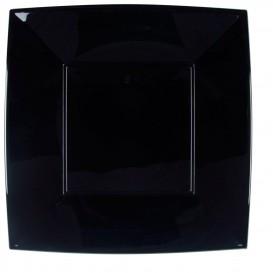 Assiette Plastique Plate Carrée Argent 290mm (72 Utés)