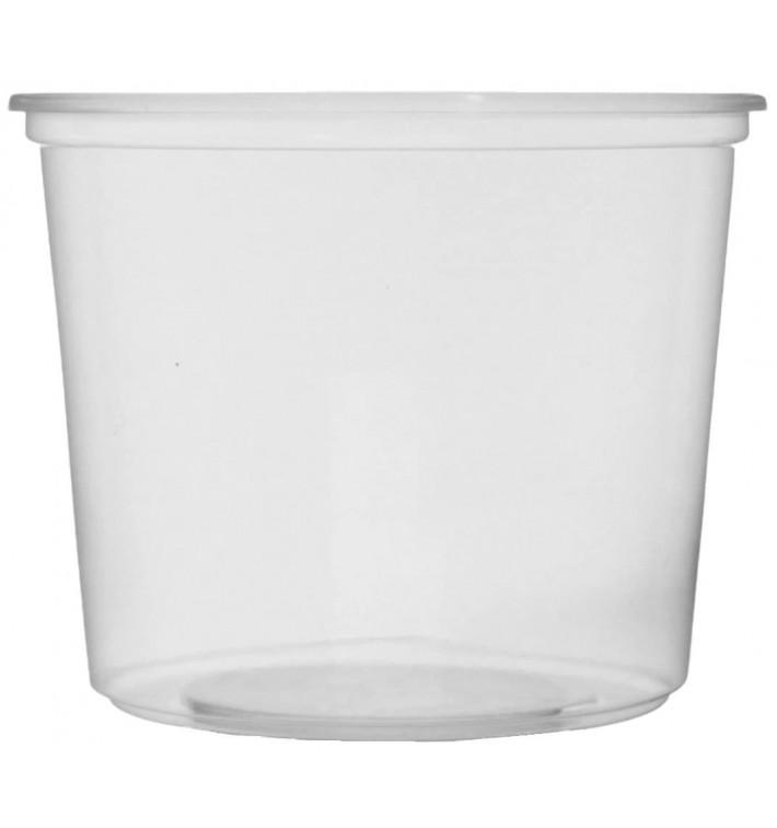 Pot en Plastique Transparent 400 ml Ø10,5cm (50 Unités)