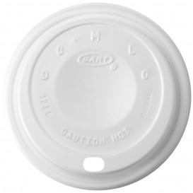 """Couvercle plastique PS """"Cappuccino"""" Blanc 14Oz/410 ml Ø8,9cm (100 Unités)"""