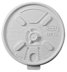 """Couvercle plastique PS """"Lift n' Lock"""" avec Rabat Blanc Ø8,9cm (100 Unités)"""