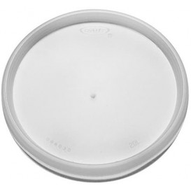 Couvercle Plastique PS Trans. Isotherme Ø11,7cm (100 Utés)