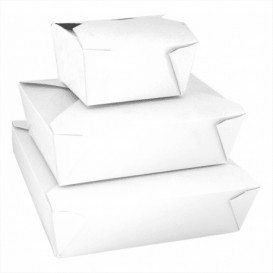 Boîte Carton Américaine Blanc 113x90x64mm 600ml (50 Utés)
