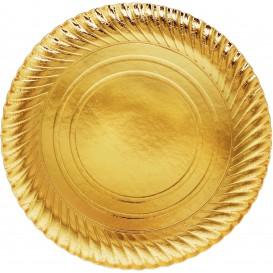 Assiette ronde Carton Doré 300mm (100 Unités)