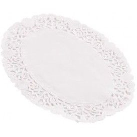 Dentelle en papier blanc Ovale 16x23cm (250 Unités)