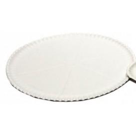 Plateau à Pizza en Carton Blanc Ø33cm (50 Unités)