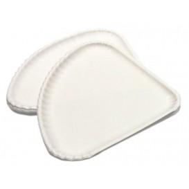 Assiette Triangulaire à Pizza Carton Blanc 1/4 (100 Utés)