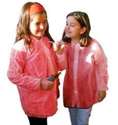 Blouse Enfant PP Rouge Velcro et Sans Poches (50 Utés)