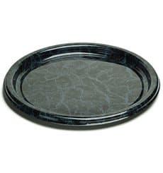 Assiette en Plastique Rond Marbré 26 cm (25 Utés)