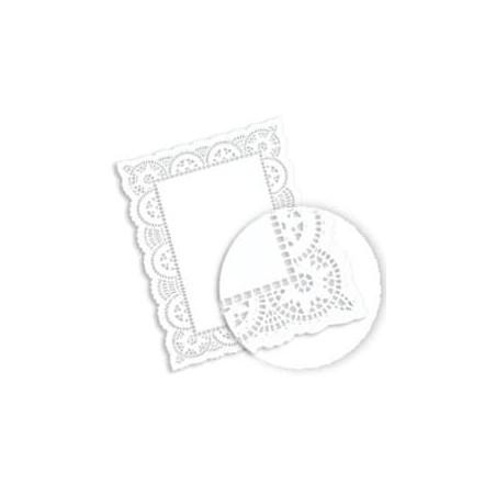 Dentelle Rectangle en papier 14x24cm (250 unités)