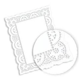 Dentelle Rectangle en papier 24,5x37cm (250 unités)