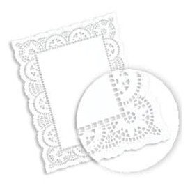 Dentelle Rectangle en papier 32x47cm (1000 unités)
