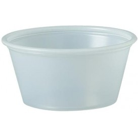 Pot à Sauce Plastique PS Trans. 60ml Ø6,6cm (250 Utés)