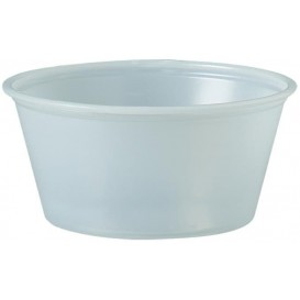 Pot à Sauce Plastique PS Trans. 100ml Ø7,3cm (250 Utés)