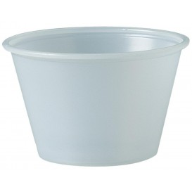 Pot à Sauce Plastique PS Trans. 120ml Ø7,3cm (250 Utés)