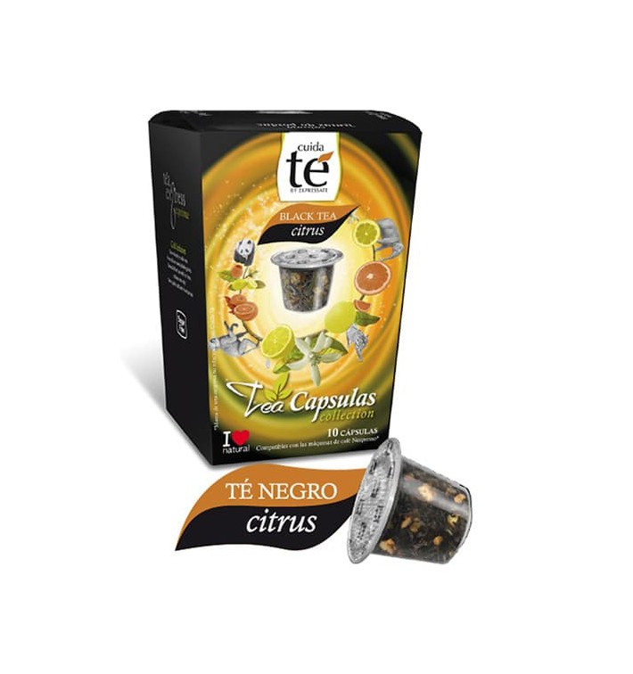 Capsules Nespresso* Compatible Thé Noir au Citron (10 Unités)