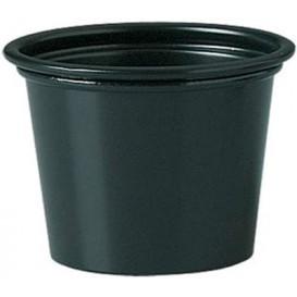 Pot en Platique PP à Sauce Noir 30ml Ø48mm (2500 Unités)