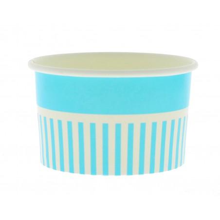 Pot à glace en carton 12oz/360ml Bleu (50 Utés)