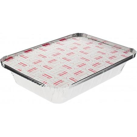 Couvercle Carton Barquette Aluminium 890ml (100 Unités)
