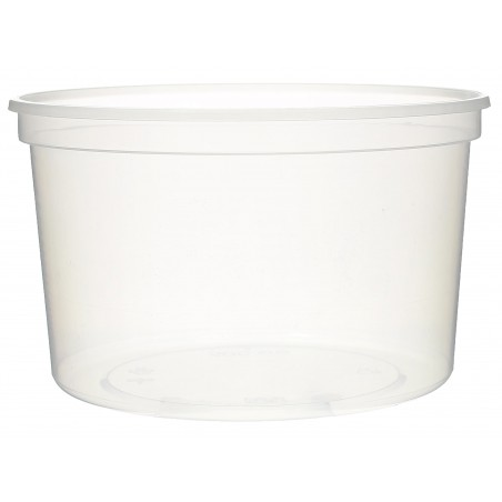 Pot en Plastique Transparent 500ml  Ø11,5cm (500 Utés)
