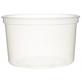Pot en Plastique Transparent 500ml  Ø11,5cm (50 Utés)