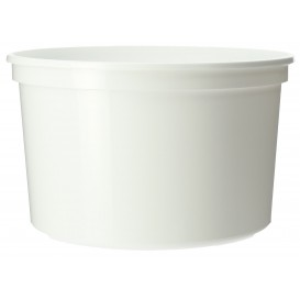 Pot en Plastique Blanc 500ml  Ø11,5cm (50 Utés)