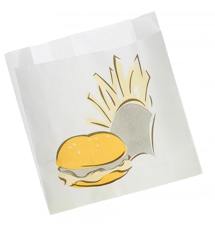 Sac Hamburger Ingraissable 15+5x16cm (100 unités)