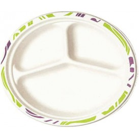Assiette Chinet 3 Compartiments 260mm Flavour (135 Utés)