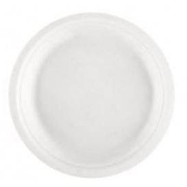 Assiette Bio en Canne à Sucre Blanc Ø230mm (1000 Utés)